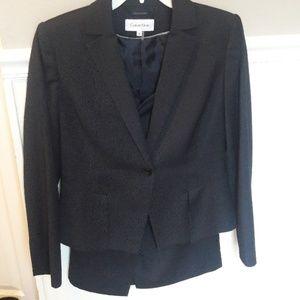 Calvin Klein Skirt Suit size 10